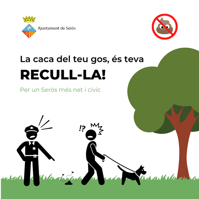 Seròs comença a imposar sancions per excrements de gos al carrer