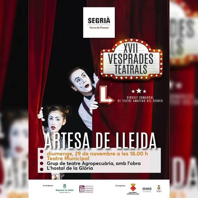 Sessió de teatre a Artesa de Lleida aquest diumenge amb la companyia Agropequària