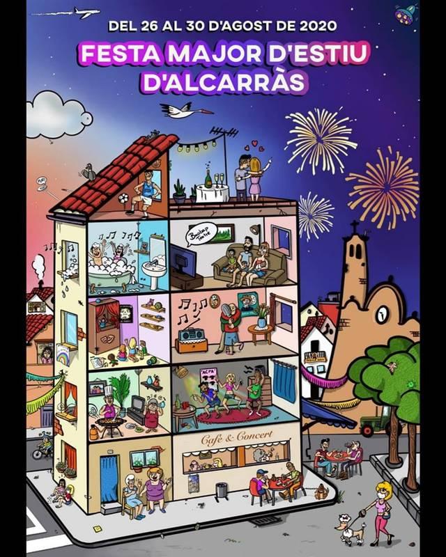 'Sigui com sigui, farem Festa Major', cartell guanyador de la festa d'estiu d'Alcarràs