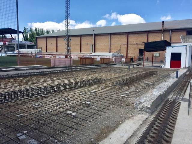 S'inicien les obres del nou bar del Camp d'Esports d'Almacelles