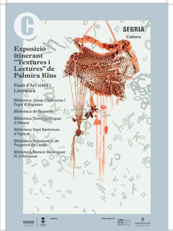 'Textures i lectures', art tèxtil i literatura escrita per dones, a les biblioteques del Segrià