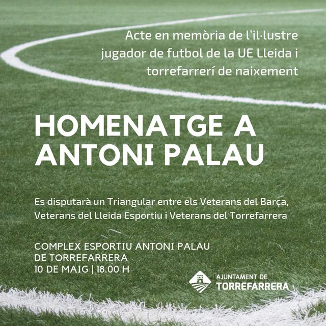 Torrefarrera fa un homenatge a Antoni Palau