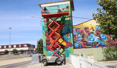 Torrefarrera ja llueix els murals del III Street Art Festival