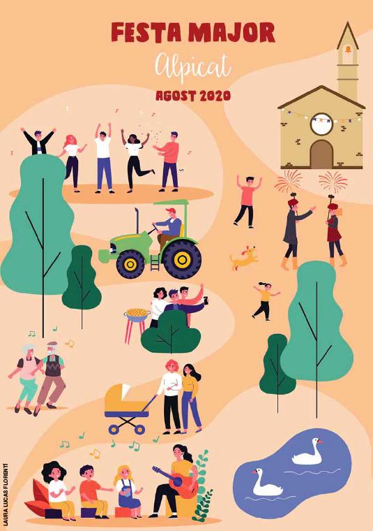 Un disseny de Laura Lucas guanya el concurs de cartells de la Festa Major d'Alpicat