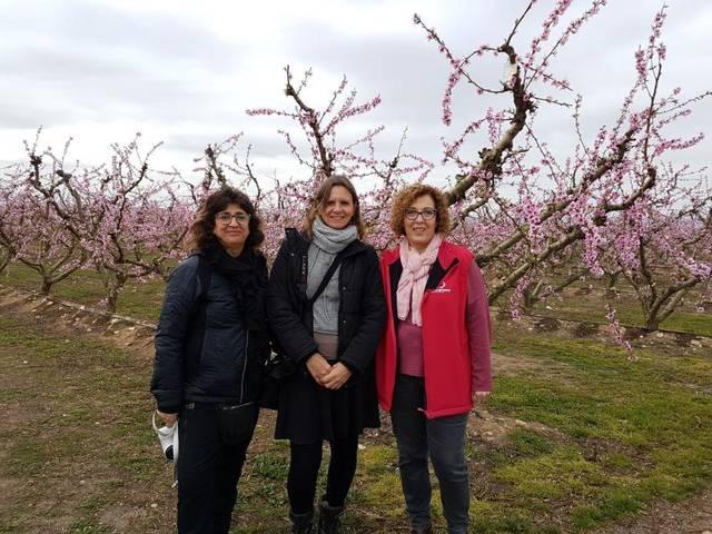 Un influent grup de bloggers visita Aitona per escriure sobre la floració