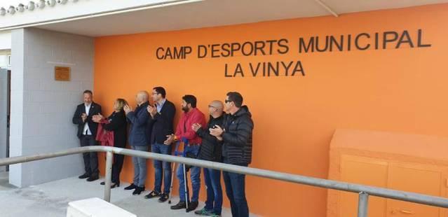 Vestidors més amplis i sostenibles per al camp de futbol d'Almenar