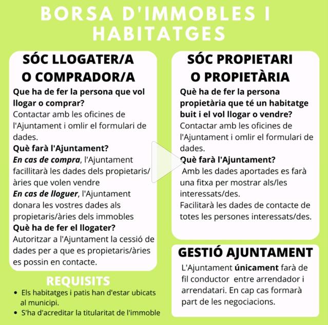 Vilanova de Segrià crea una borsa de lloguer i compra-venda d'habitatges