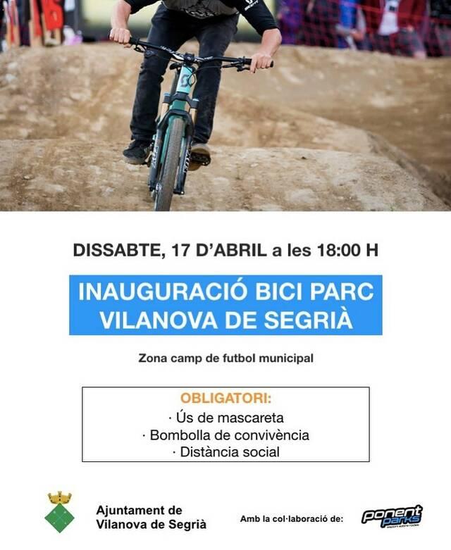Vilanova de Segrià inaugura avui el seu Biciparc