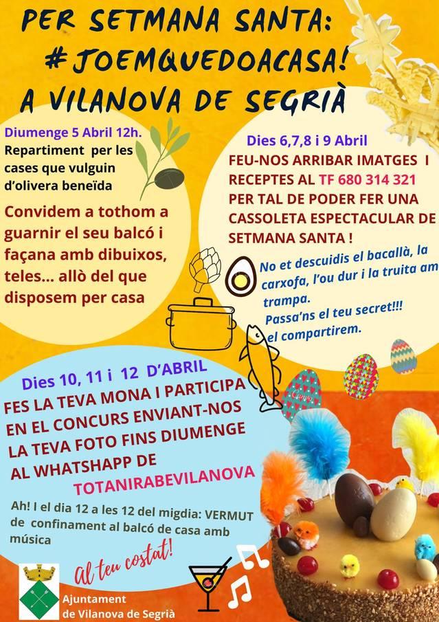 Vilanova de Segrià programa una Setmana Santa virtual