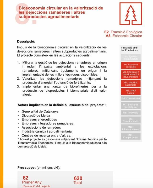 Vuit muncipis del Segrià impulsen un dels projectes triats per la Generalitat per optar als fons europeus de recuperació