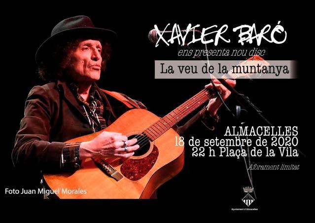 Xavier Baró presenta el seu darrer disc a Almacelles, el divendres 18