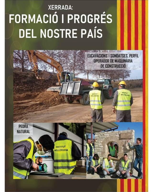 Xerrada a Alcarràs sobre la titulació, única a Espanya, que ofereix l'Institut de Mollerussa en maquinària pesant