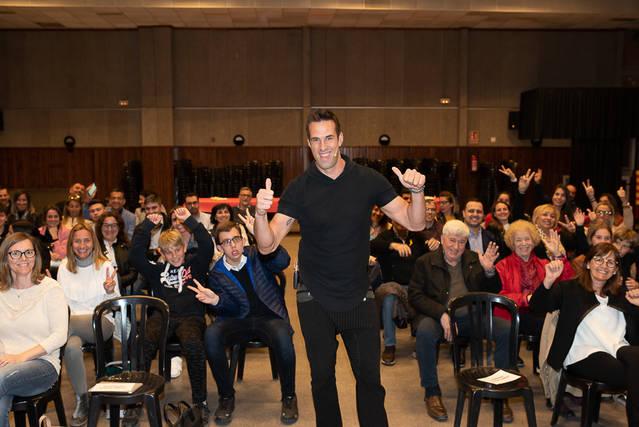 Xerrada motivacional de l'exjugador de bàsquet i expert en lideratge Sergi Grimau, aquest dijous a Torrefarrera