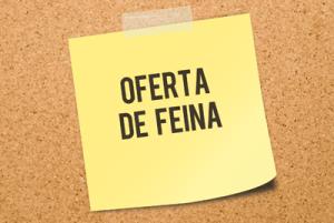 OFERTA DE FEINA  - ALFARRÂS