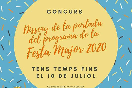 CONCURS DISSENY PORTADA DEL LLIBRE DE FESTA MAJOR 2020