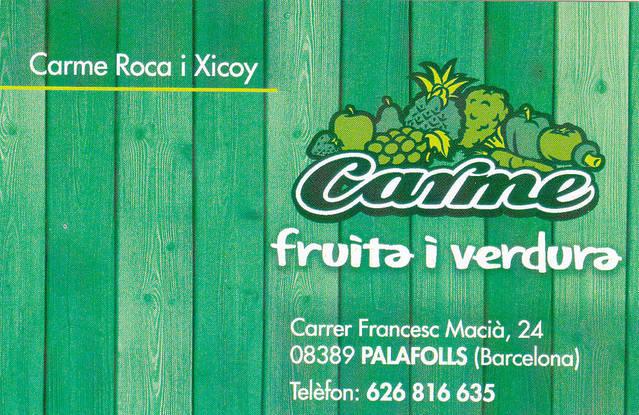 CARME FRUITA I VERDURA (Palafolls)