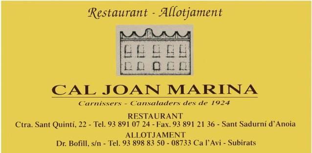 Restaurant Cal Joan Marina