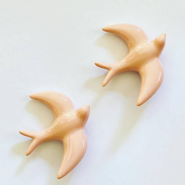 2 orenetes de ceràmica