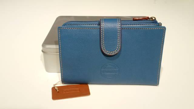 Billetero Mujer Pielnoble rustic azul jeans IR517 20