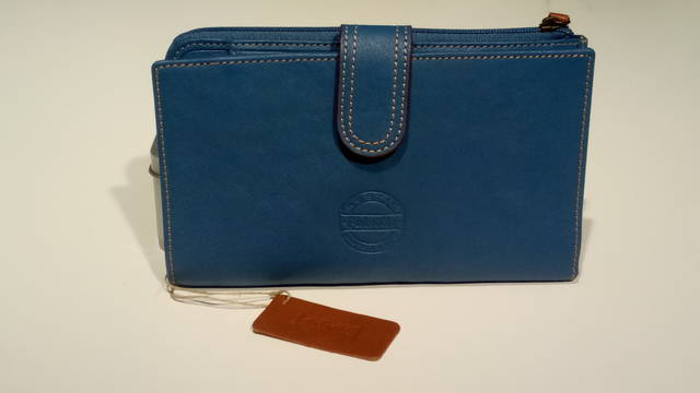 Billetero Mujer Pielnoble Rustic azul jeans IR518 20