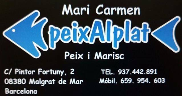 Mari Carmen Peix al plat