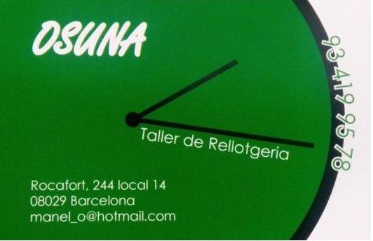 TALLER DE RELLOTGERIA OSUNA