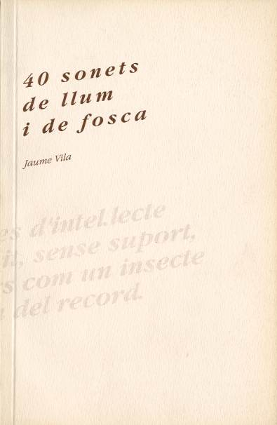 40 sonets de llum i de fosca
