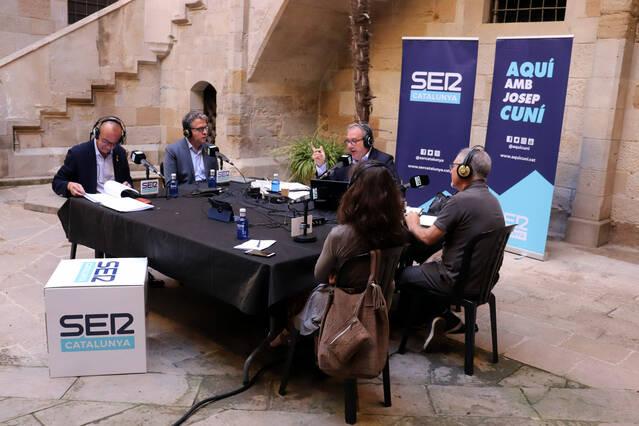 'Aquí, amb Josep Cuní' omple les ones de talent lleidatà amb un programa especial emès dels de l'Institut d'Estudis Ilerdencs