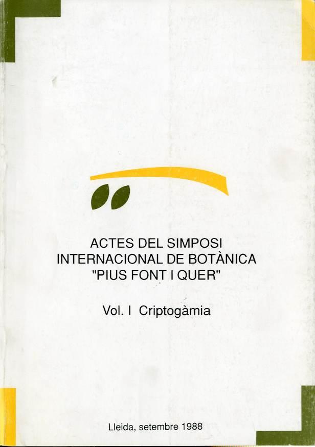 Actes del Simposi internacional de botànica