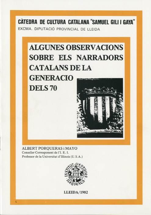 Algunes observacions sobre els narradors catalans de la generació del 70