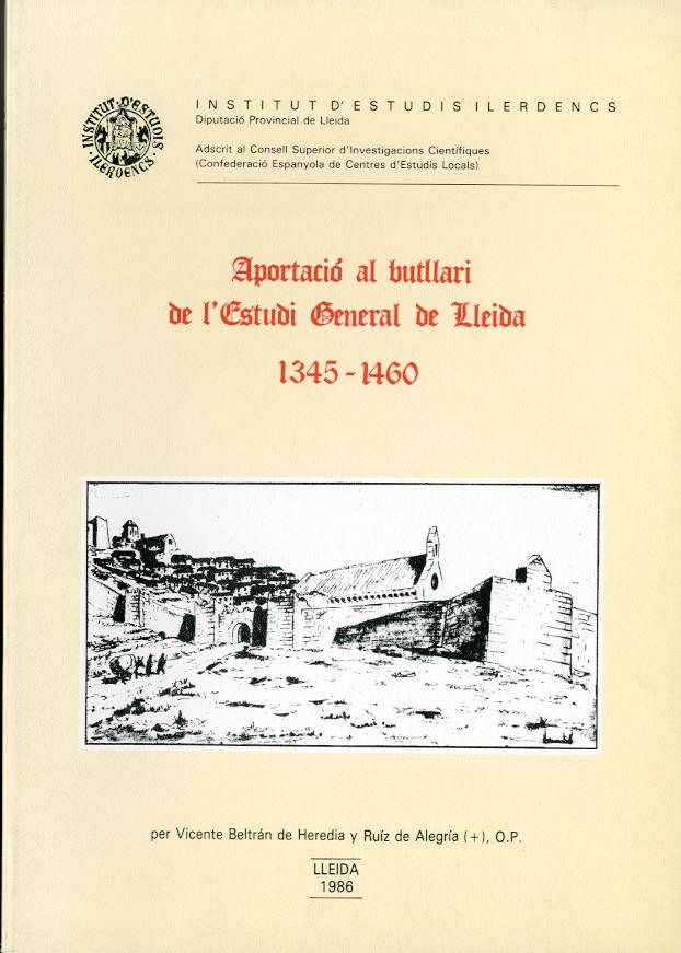 Aportació al butllari de l'Estudi General de Lleida 1354-1460