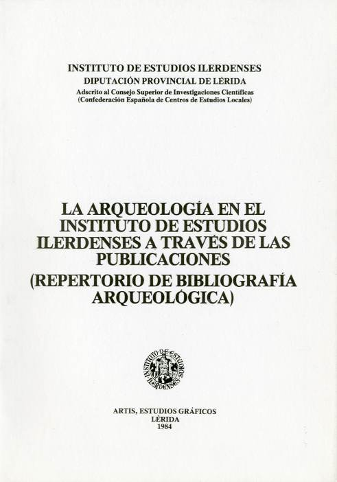 Arqueología en el Instituto de Estudios Ilerdenses a través de las publicaciones, La