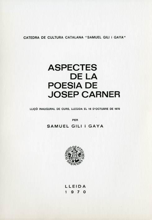 Aspectes de la poesia de Josep Carner