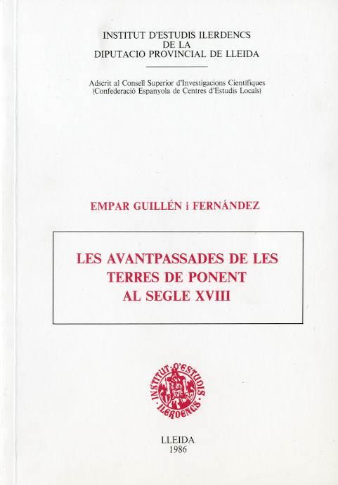 Avantpassades de les terres de Ponent al segle XVIII, Les (Miscel·lània de