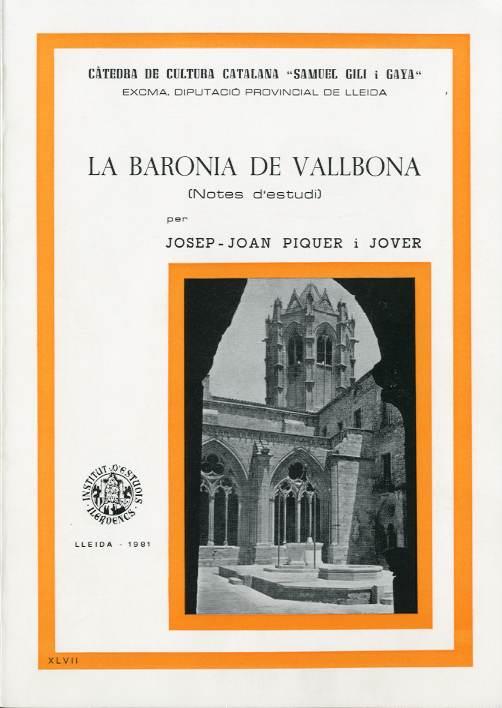 Baronia de Vallbona, La (Notes d'estudi)