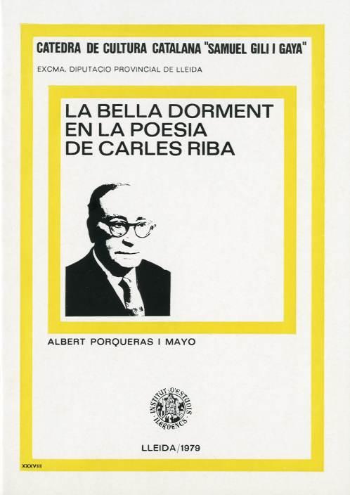 Bella dorment en la poesia de Carles Riba, La