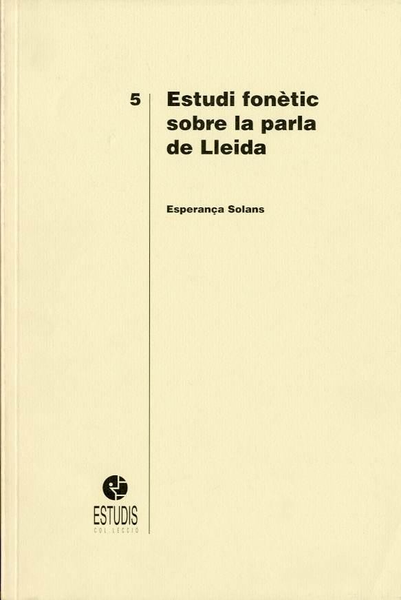 Estudi fonètic sobre la parla de Lleida