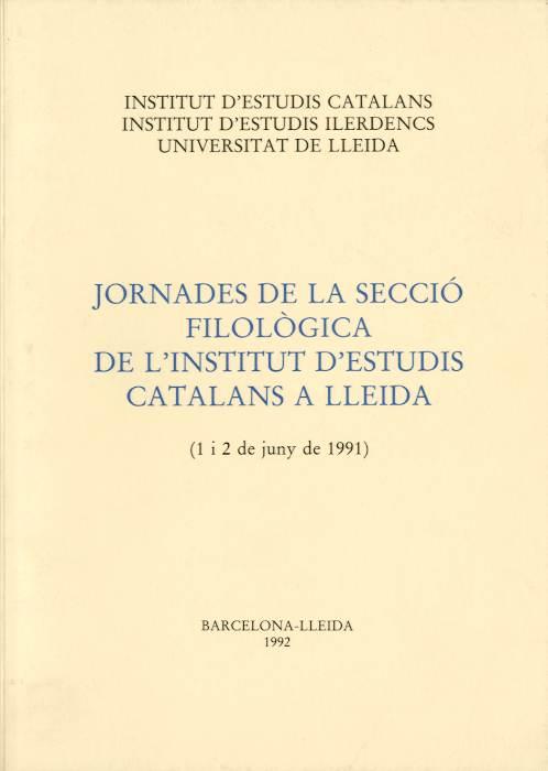 Jornades de la Secció filològica de l'Institut d'Estudis Catalans