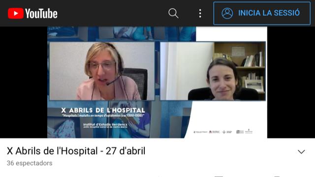 Una trentena d'especialistes, a la desena edició del simposi Abrils de l'Hospital, organitzada per l'IEI en format virtual